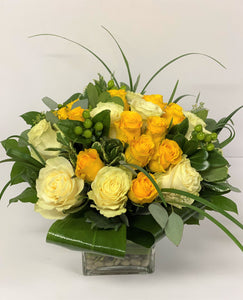 F153 - Rose Nosegay Arrangement - Flowerplustoronto