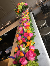 Load image into Gallery viewer, E29 - Hot Pink, Orange, Purple and Chartruese Rectangular Centerpieces - Series Design - Flowerplustoronto