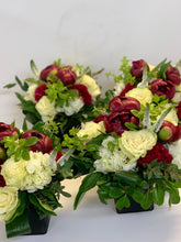 Load image into Gallery viewer, E31 -  Burgandy and White Cruiser Table Arrangements - Flowerplustoronto