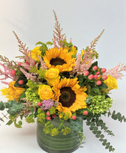 Load image into Gallery viewer, F11 - Sunflower Sunshine Vase Arrangement - Flowerplustoronto
