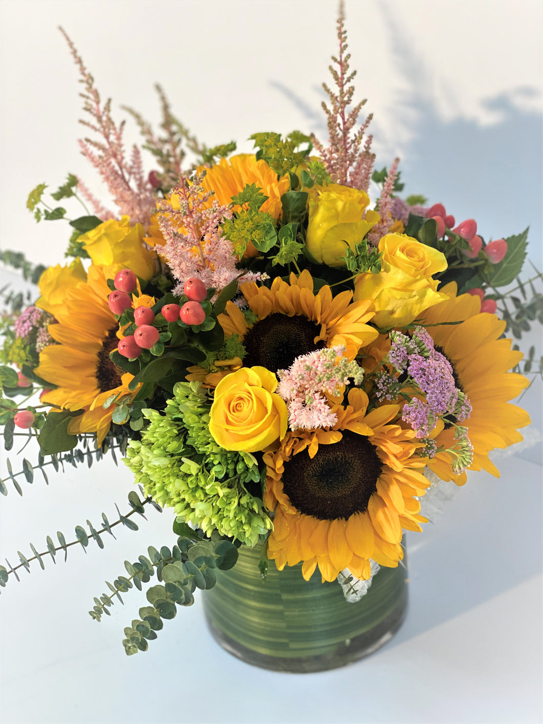 F11 - Sunflower Sunshine Vase Arrangement - Flowerplustoronto