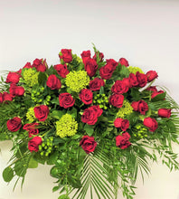 Load image into Gallery viewer, FNC21 - Classic Red Rose Open Casket Arrangement - Flowerplustoronto