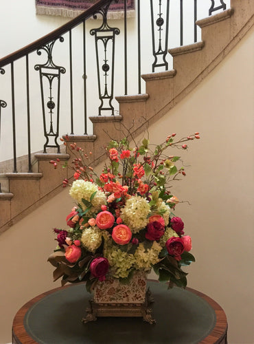 S51 - Classis English Garden Arrangement for Foyer Table - Flowerplustoronto