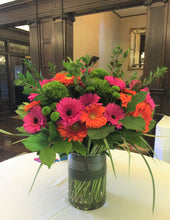 Load image into Gallery viewer, E36 - Hot Pink and Orange Foyer Arrangement - Flowerplustoronto