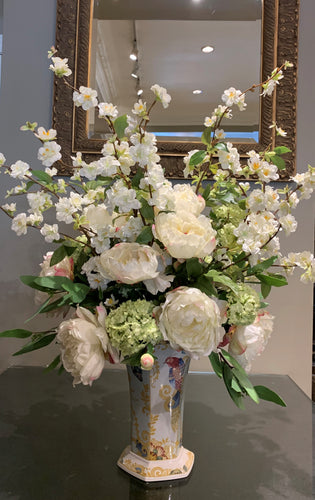 S50 - Elegant White Peony Arrangement - Flowerplustoronto