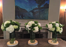 Load image into Gallery viewer, E42 - Hydrangeas and Green Trick  Arragements - Series Design Reception Table - Flowerplustoronto