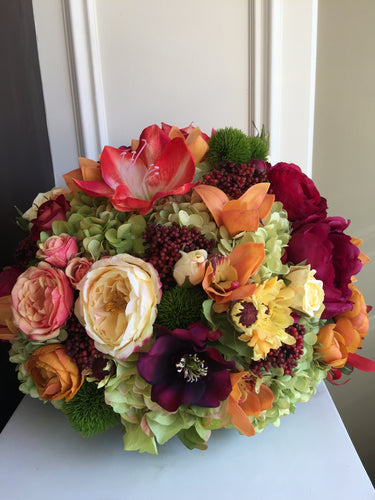 S10 - Vibrant English Garden Arrangement - Flowerplustoronto