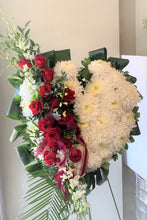Load image into Gallery viewer, FNS3 - Solid Heart accented with Roses and Orchids - Flowerplustoronto