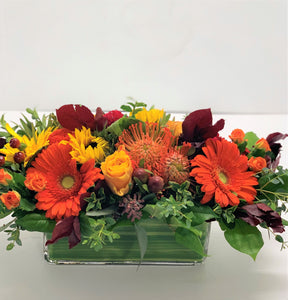 F154 -  Festive Autumn Centerpiece - Flowerplustoronto