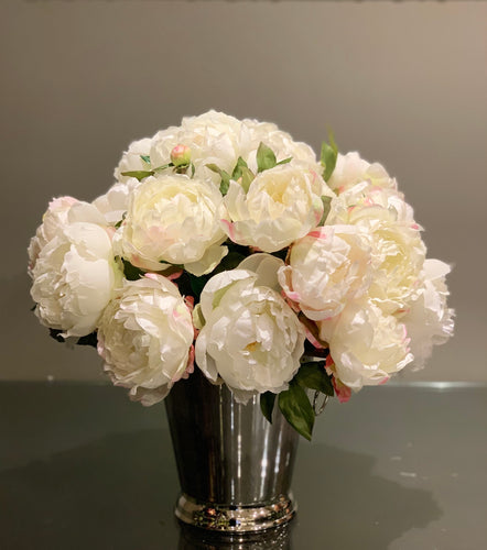 S15 - Lush White Peony Arrangement - Flowerplustoronto