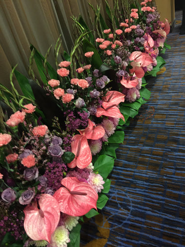 E18 - Shades of Purples and Pinks - Series Design for the Stage - Flowerplustoronto