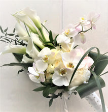 Load image into Gallery viewer, Modern White Hand-tied Bridal Bouquet - Flowerplustoronto