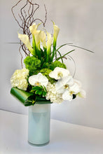 Load image into Gallery viewer, F139 - Modern White and Green Arrangement - Flowerplustoronto