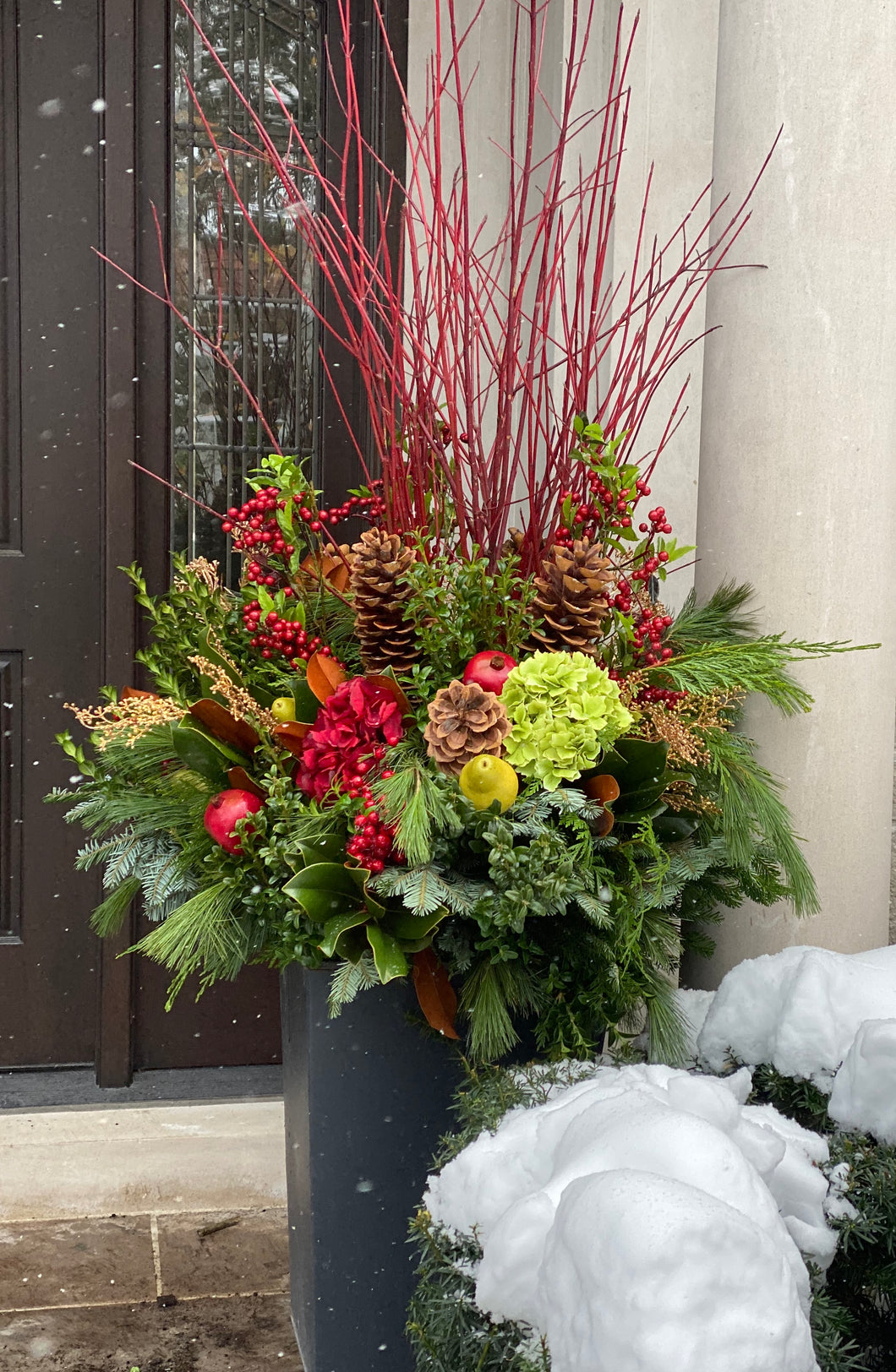 WP3 - Classic Winter Planter - Flowerplustoronto