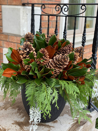 WP6 - Modern Winter Planter - Flowerplustoronto
