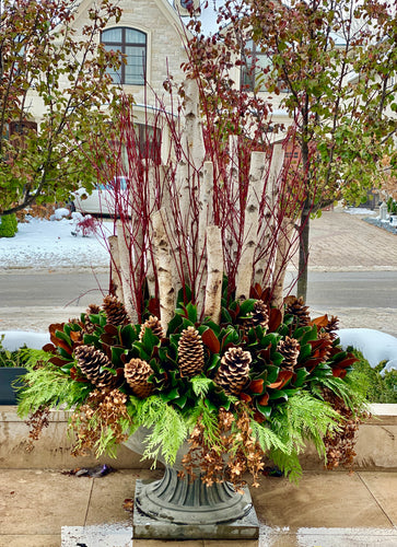 WP9 - Modern Winter Planter - Flowerplustoronto
