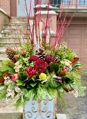 WP12 - Modern Winter Arrangement - Flowerplustoronto