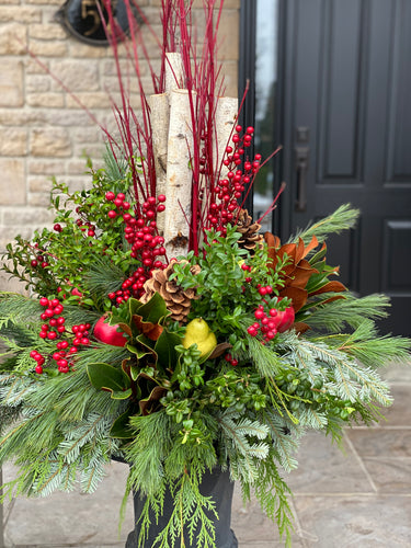WP14 - Classic Winter Planter - Flowerplustoronto