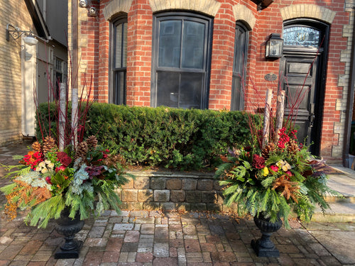 WP18 - Classic Winter Planter - Flowerplustoronto
