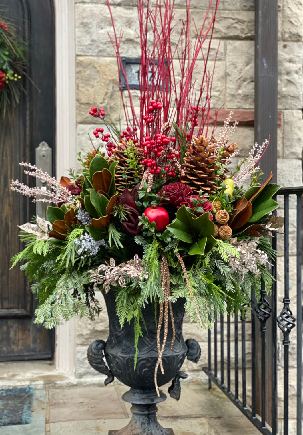 WP23 - Classic Winter Arrangement - Flowerplustoronto