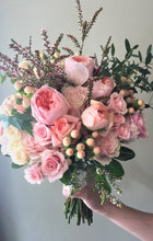 Load image into Gallery viewer, Watery Pastel Hand-tied Bridal Bouquet - Flowerplustoronto