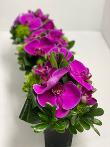 E10 - Purple Phalaenopsis Centerpieces - Series Design - Flowerplustoronto
