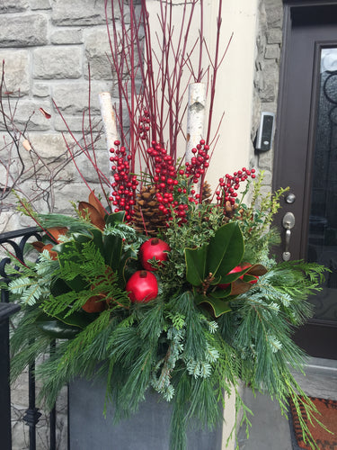 WP28 - Modern Winter Planter - Flowerplustoronto