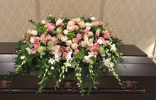 Load image into Gallery viewer, FNC8 - Pastel Closed Casket Arrangement - Flowerplustoronto
