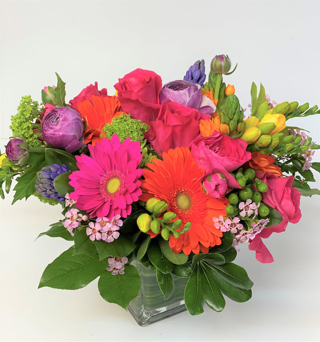 F197 - Vibrant Vase Arrangement - Flowerplustoronto