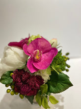 Load image into Gallery viewer, S28 - Modern Ivory and Fuschia Arrangement - Flowerplustoronto