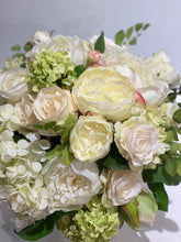 Load image into Gallery viewer, S40 - Classic White and Ivory English Garden Arrangement - Flowerplustoronto