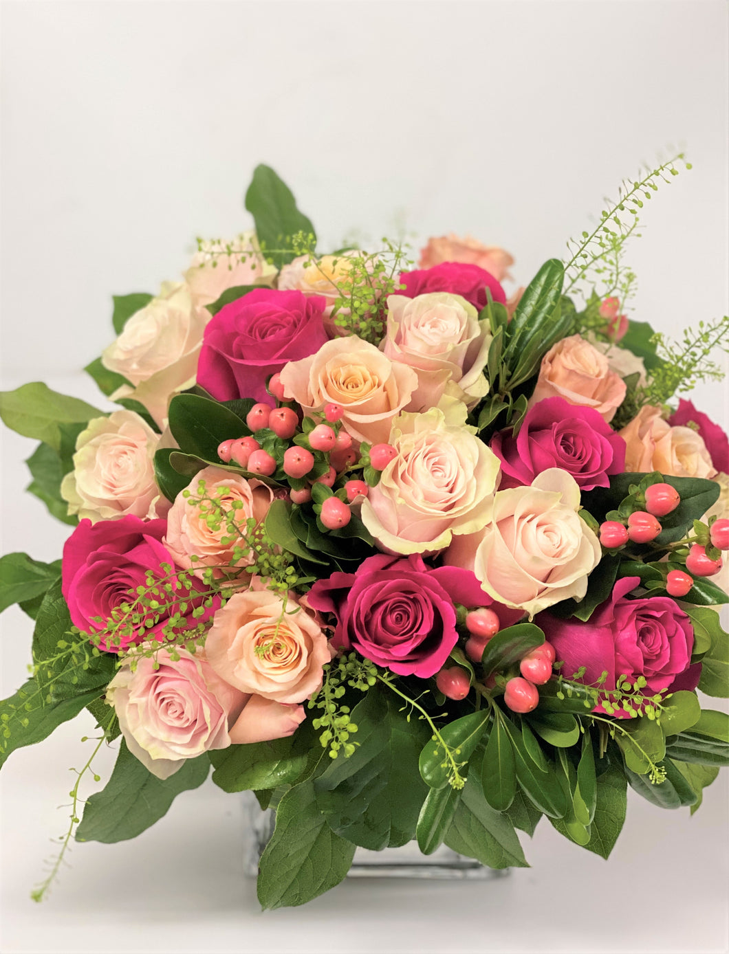 F6 - Classic Rose Nosegay Arrangement - Flowerplustoronto