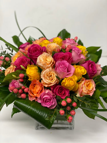 C17 - Modern Rose Arrangement - Flowerplustoronto