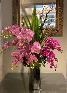 S57 - Modern Purple Orchid Arrangement - Flowerplustoronto