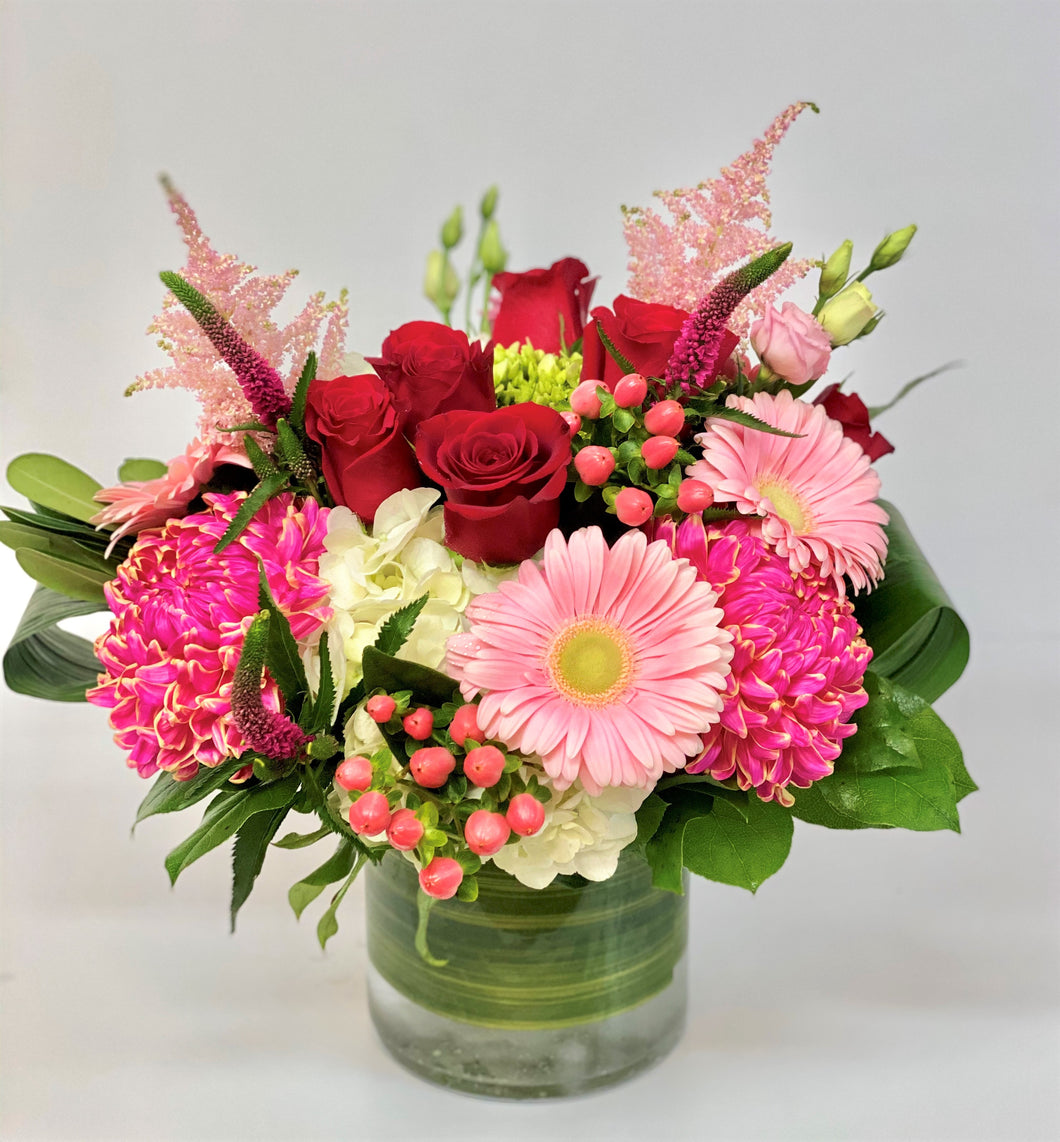 F19 - English Garden Vase Arrangement - Flowerplustoronto