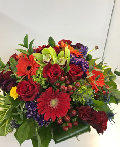 F76 - Vibrant Vase Arrangement - Flowerplustoronto