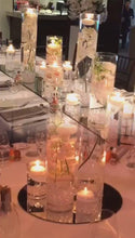 Load and play video in Gallery viewer, Modern Elegant Orchid Wedding - Guest table  Arrangements