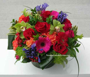 F89 - Vibrant Summer Vase Arrangement - Flowerplustoronto