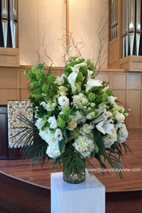 FNV80 - Elegant White Vase Arrangement - Flowerplustoronto