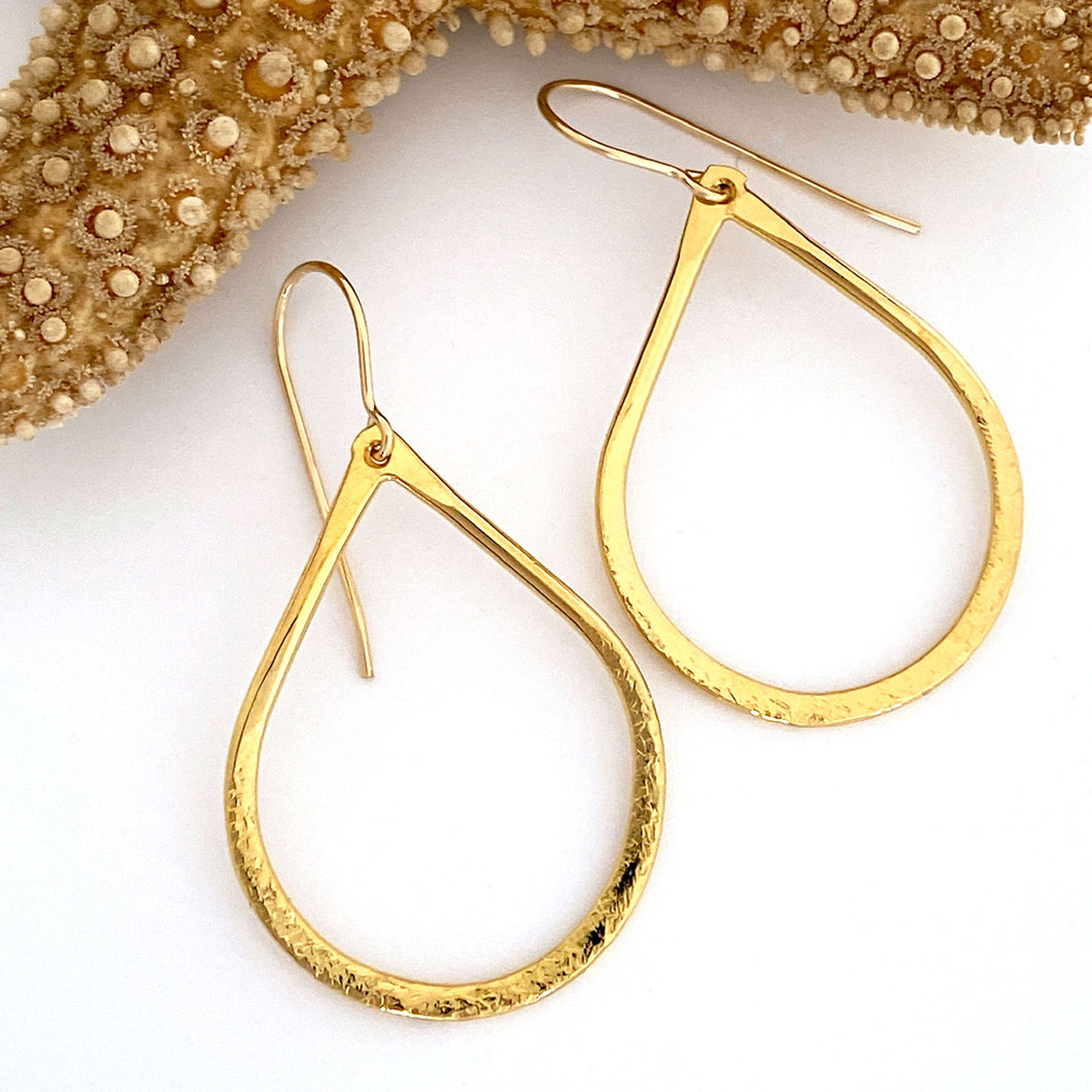 Dia Earrings in 24kt Gold Plate