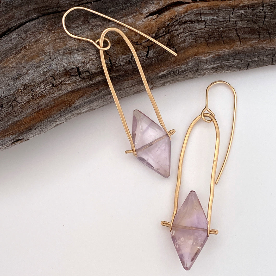 Yetta Earrings with Amethyst