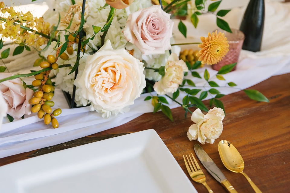 Dinner Party Flower Centerpieces in Houston