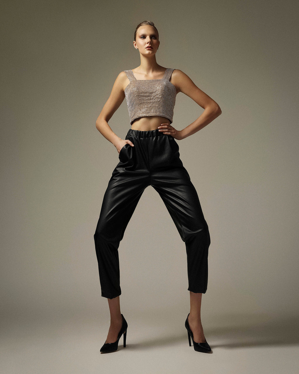 Faux Leatherette Pants