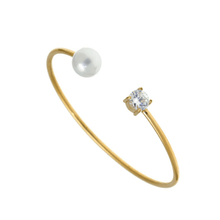 Load image into Gallery viewer, Diamond Pearl Bracelet