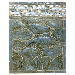 "Within the Waters-  Porcelain 12"" x 12"" Mosaic Tile"