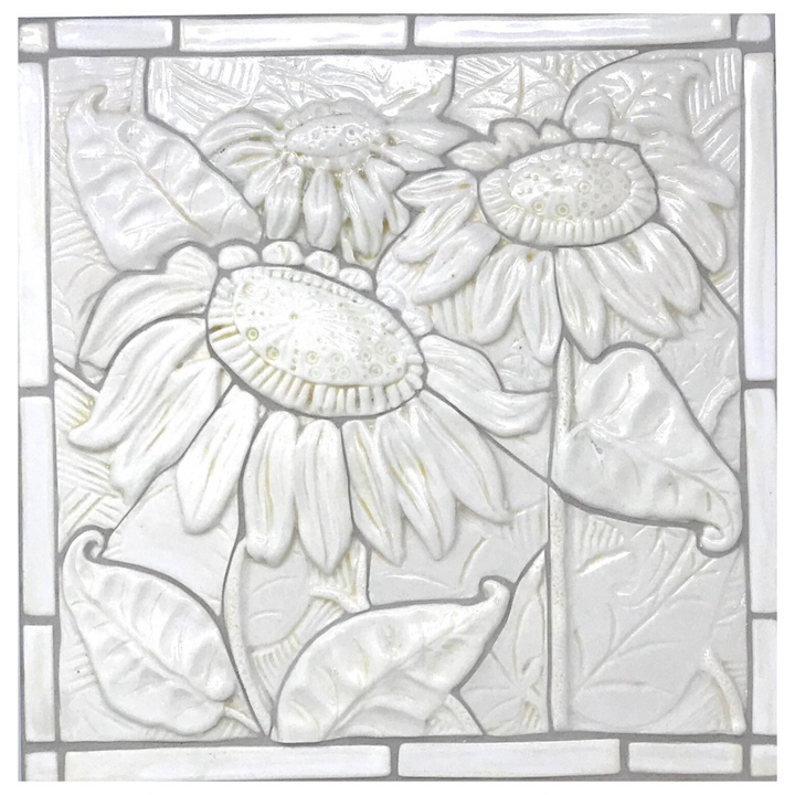 "Sunflower - Porcelain 12"" x 12"" Mosaic Tile"
