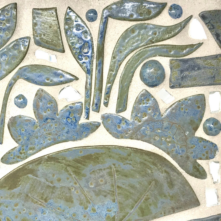Perch, Lillypads & Reeds - Custom Mosaic Backsplash/Art