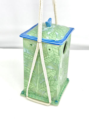 Porcelain Birdhouse (Made for Small Birds)