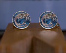 Load image into Gallery viewer, '1p' Coin cufflinks