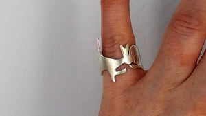 Commission- Irish hare brooch and ring